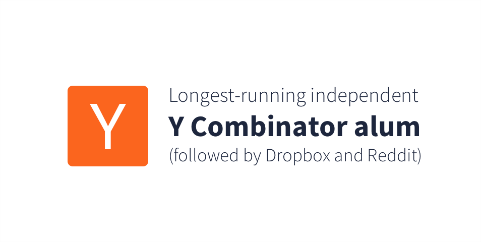 Longest-running independent Y Combinator alum (followed by Dropbox and Reddit)