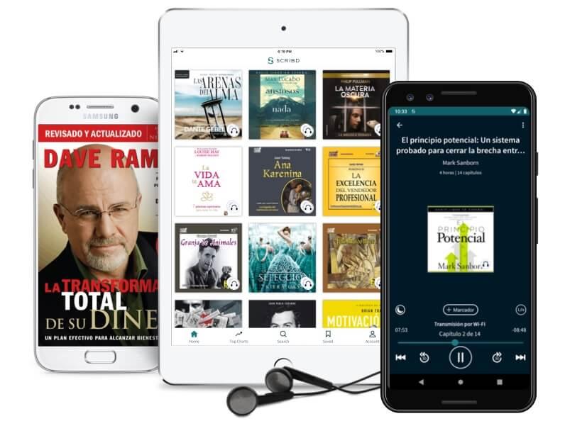 Scribd también está disponible para sus dispositivos móviles.